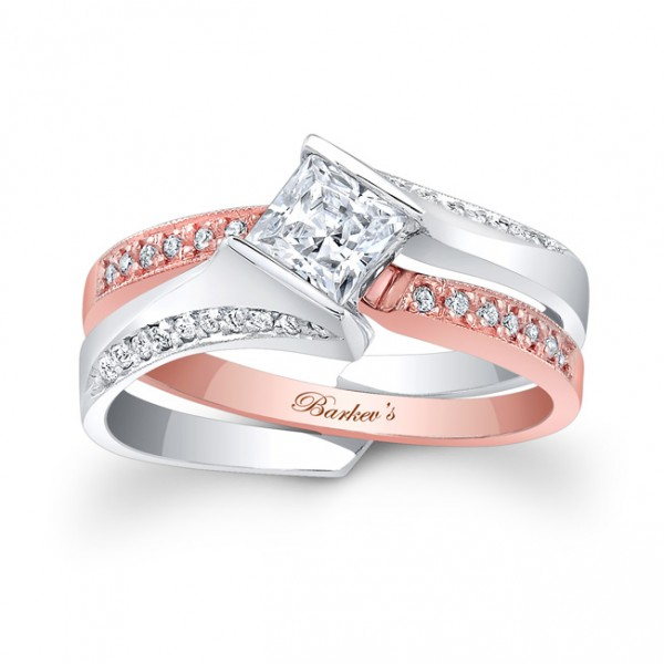 Rose & White Gold Bridal Set