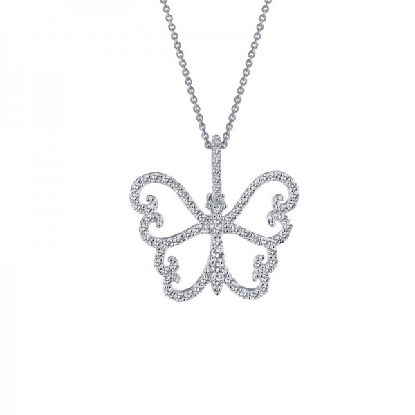 Lafonn Butterfly Pendant Necklace