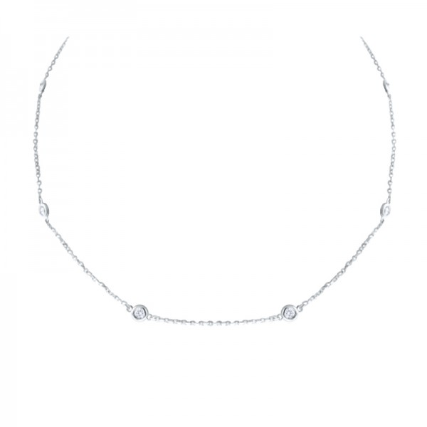 14K Diamond by the Yard Necklace 18""
