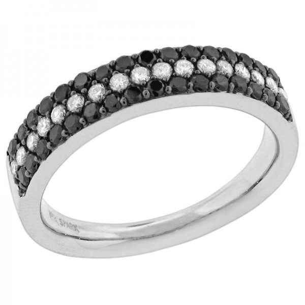Black and White White And Black Diamond Ring R 5393-BD
