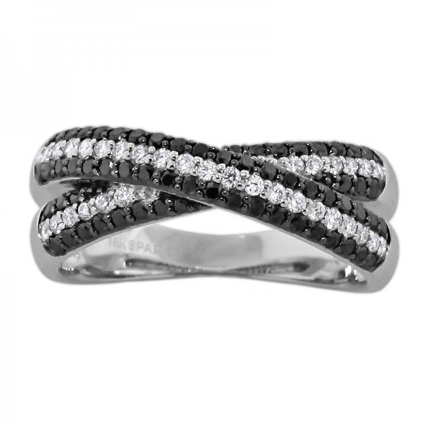 Black and White White And Black Diamond Ring R 6004-BD