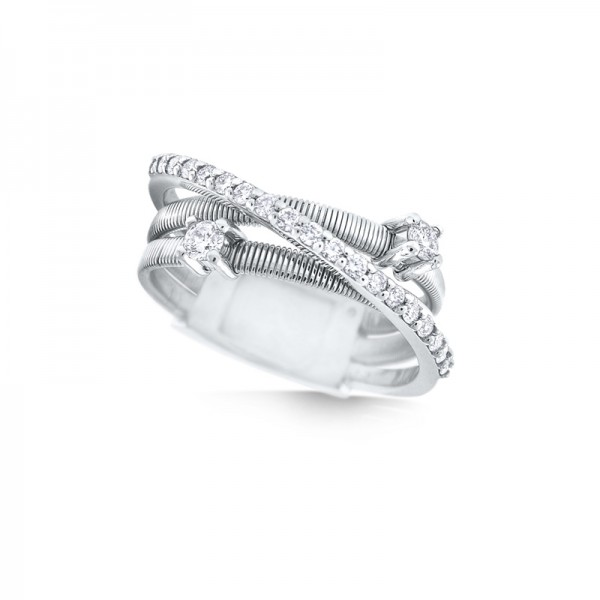 14K Diamond Criss-Cross Ring