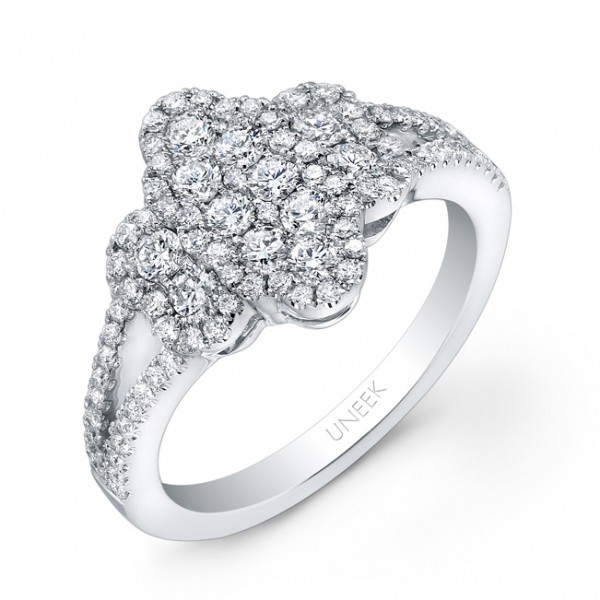Bouquet Collection 14K White Gold Diamond Ring LVR111