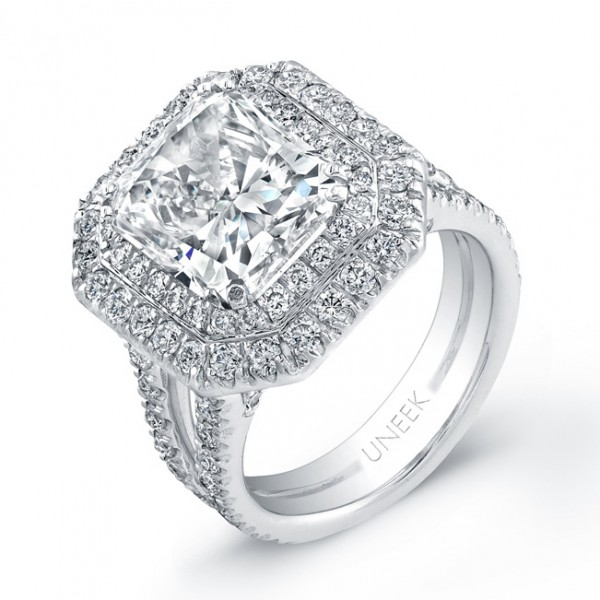 Signature Collection Platinum Radiant Diamond Ring LVS527