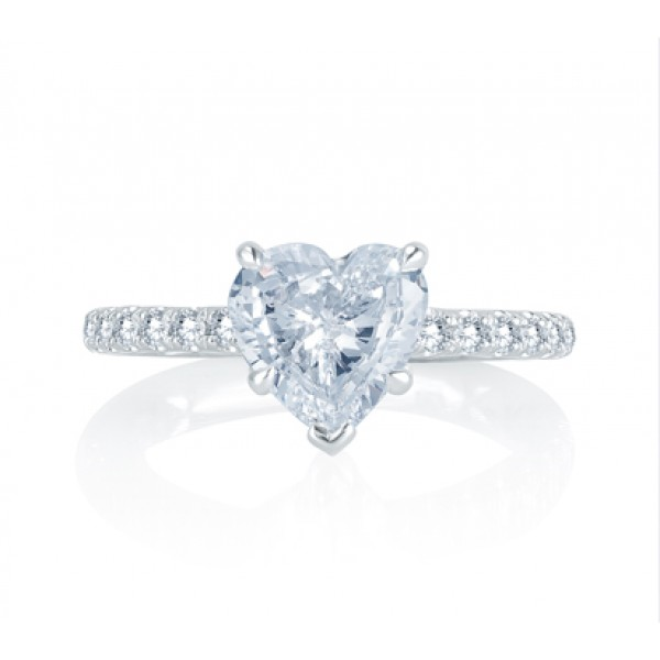 An Ode To True Love! Charming French Pav? Setting Quilted Engagement Ring