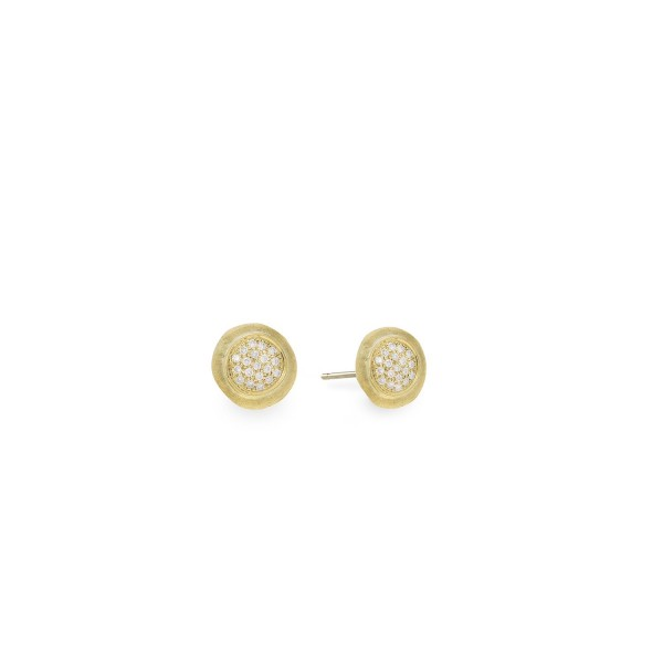 Jaipur 18K Yellow Gold and Diamond Stud Earrings