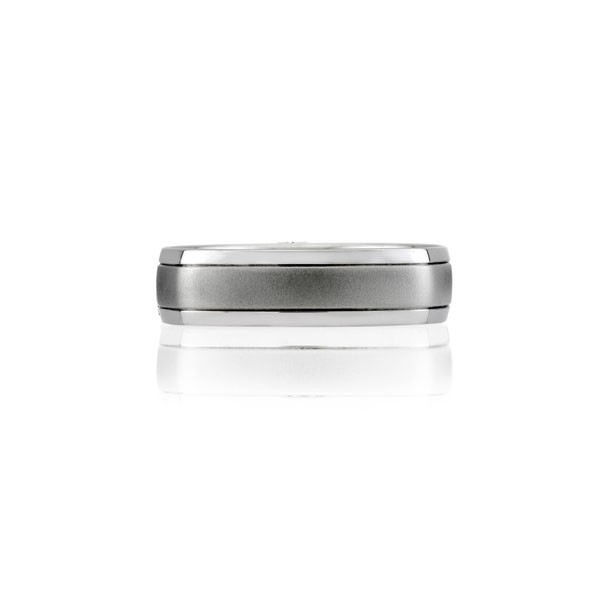 Classic Center Brushed Men's Signature Band