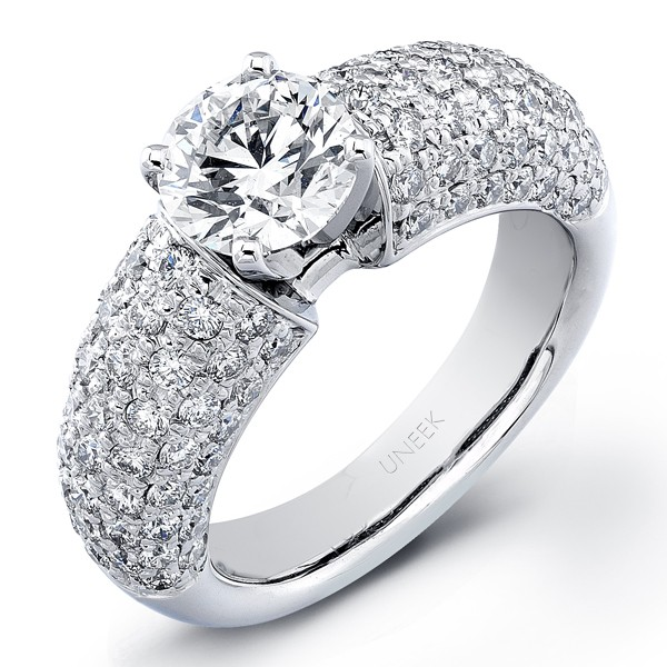 Uneek Micro-Pave Diamond Engagement Ring SM336