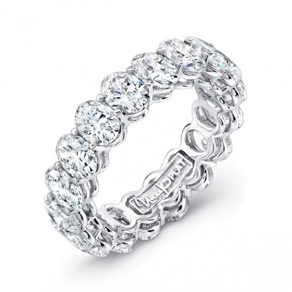 Uneek Oval Diamond Eternity Band, in Platinum