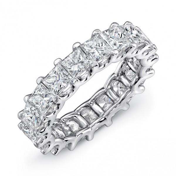 Uneek Princess Cut Diamond Eternity Band, in Platinum
