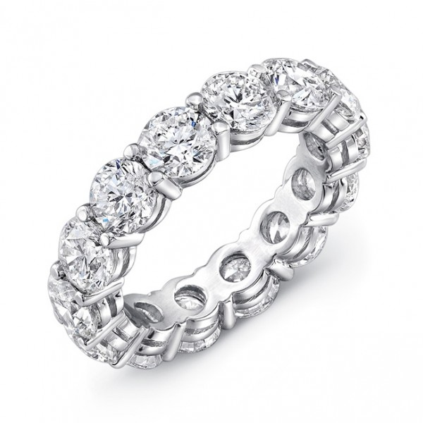 Uneek Round Diamond Eternity Band, in Platinum