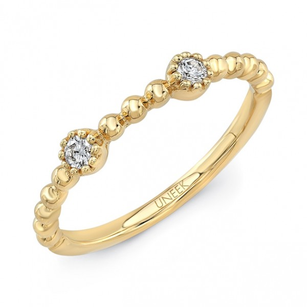 "Uneek ""Las Palmas"" Stackable Diamond Band in 14K Yellow Gold"