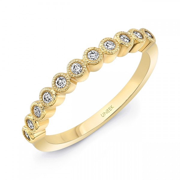 "Uneek ""Gramercy"" Stackable Diamond Band in 14K Yellow Gold"
