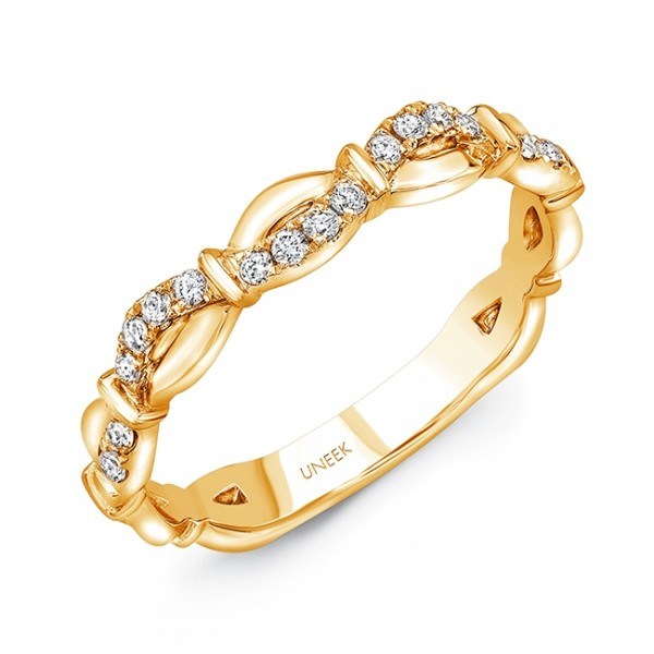 "Uneek ""Mansfield"" Stackable Diamond Band in 14K Yellow Gold"