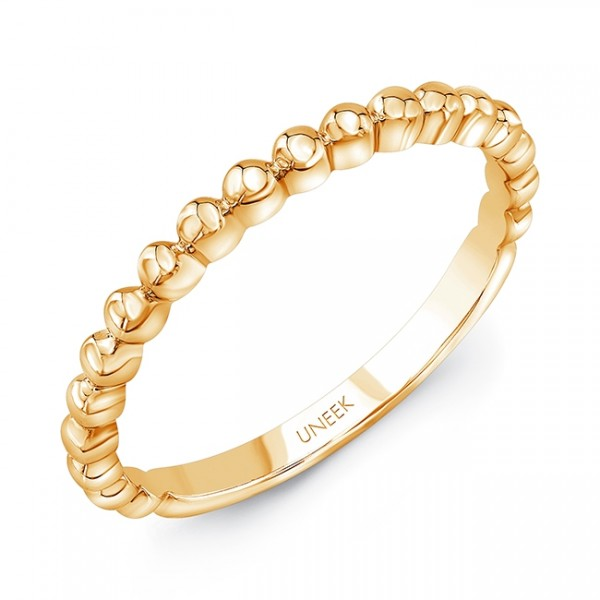 "Uneek ""Ivar"" Stackable Band in 14K Yellow Gold"