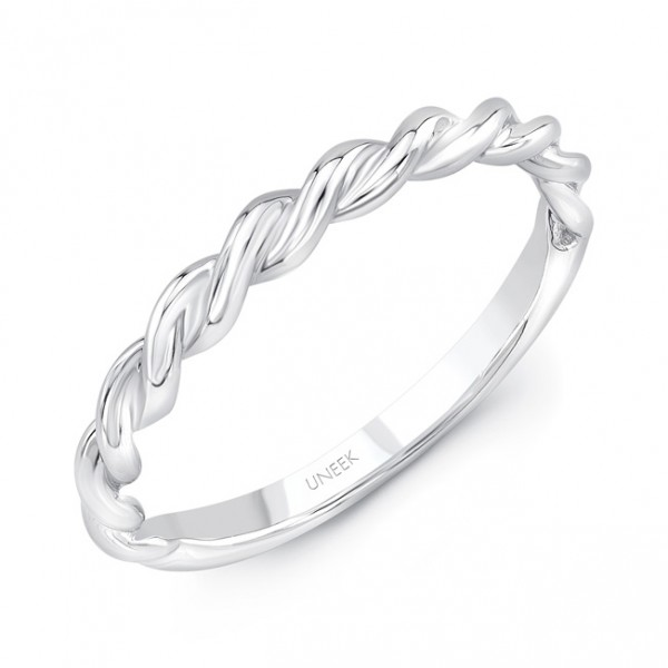 """Uneek """"Doheny II"""" Stackable Band in 14K White Gold"""