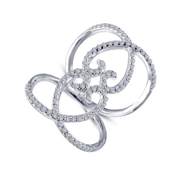 Lafonn Double-Heart Open Ring