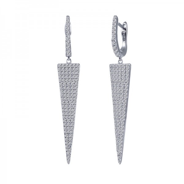 Lafonn Tapered Triangle Earrings
