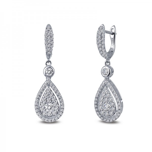 Lafonn Pear-Shaped Pave Dangle Earrings