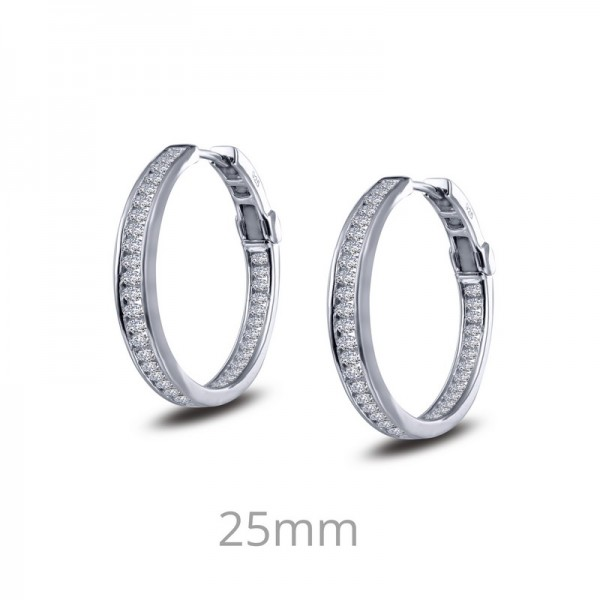 Lafonn Inside Out Hoop Earrings