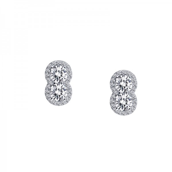 Lafonn Platinum And Sterling Silver Diamond Earrings