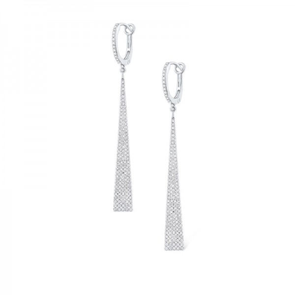 14K Diamond Dangle Earrings