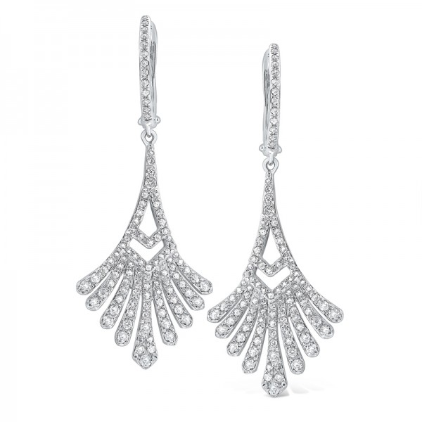 14K Diamond Antique Style Dangler Earrings