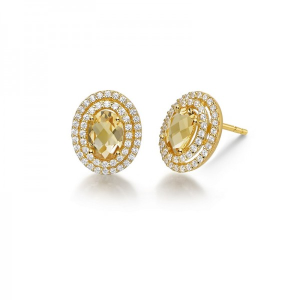 Lafonn Double Halo Aria Earrings