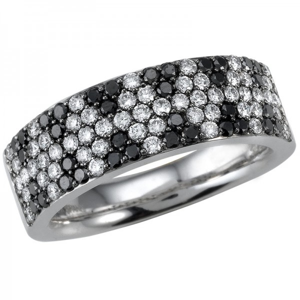 Black and White White And Black Diamond Ring R 5110-BD