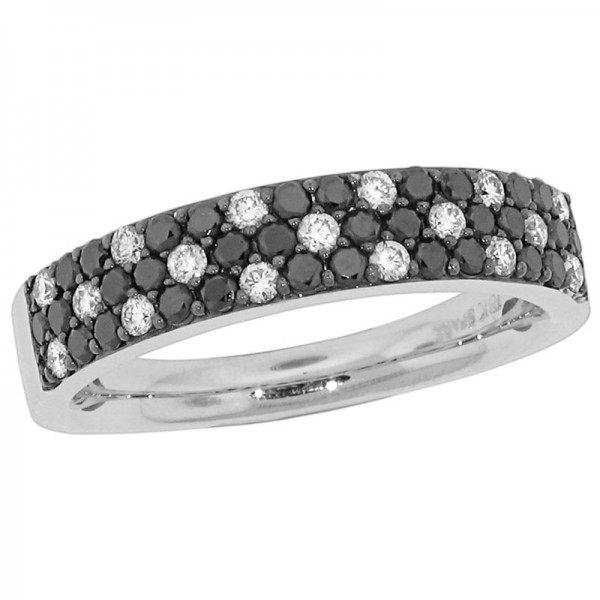 Black and White White And Black Diamond Ring R 5392-BD
