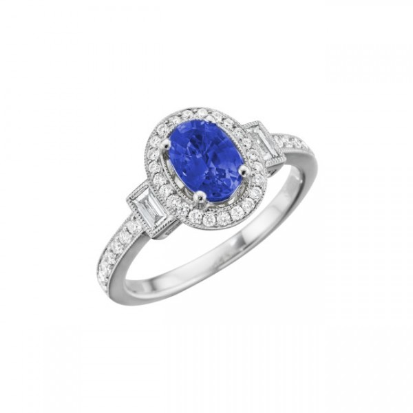 Classic Color Diamond And Sapphire Ring R 5759-S
