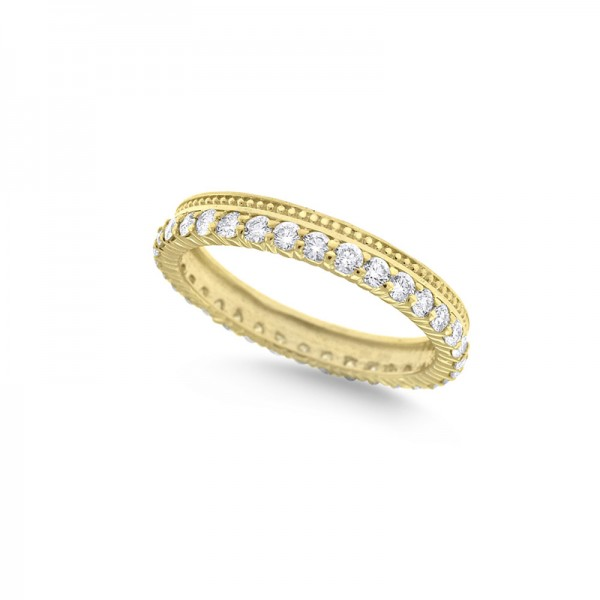 Diamond Stack Ring in 14K Yellow Gold with 34 Diamonds Weighing .75ct tw