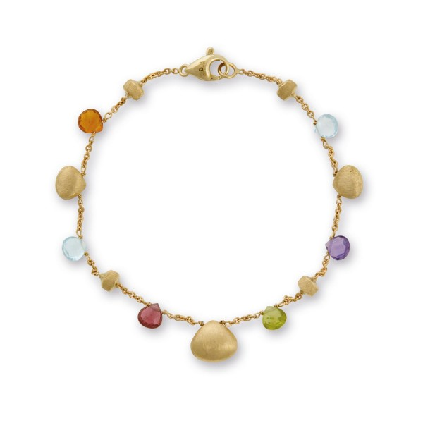 Paradise 18K Yellow Gold Mixed Gemstone Single Strand Bracelet