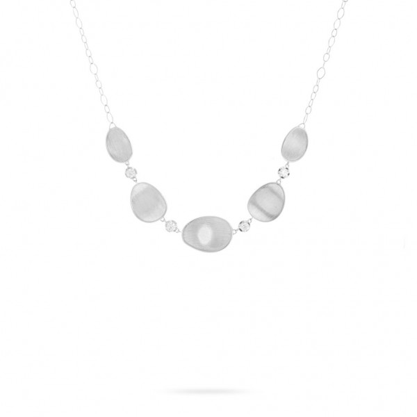 Lunaria 18K White Gold and Diamond Necklace