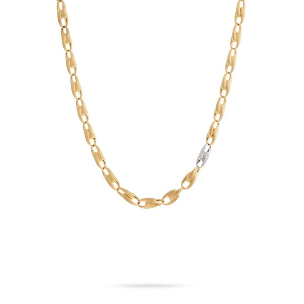 Lucia 18K Yellow Gold and Diamond Medium Link Chain Necklace