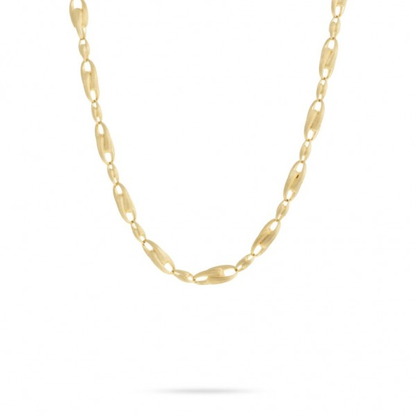 Lucia 18K Yellow Gold Large Alternating Link Chain Necklace