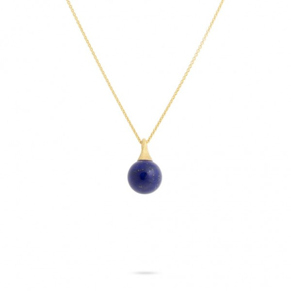 Africa Boules 18K Yellow Gold and Lapis Pendant
