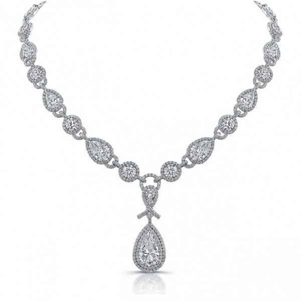 "Uneek ""Signature"" Diamond Necklace, in Platinum"