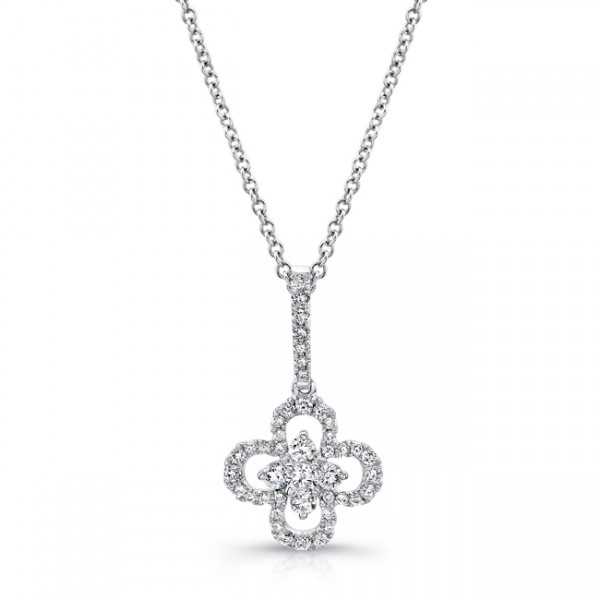 Petite Bouquet Collection 14K White Gold Diamond Pendant LVNJ08