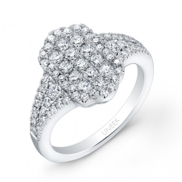 Bouquet Collection 14K White Gold Diamond Ring LVR107