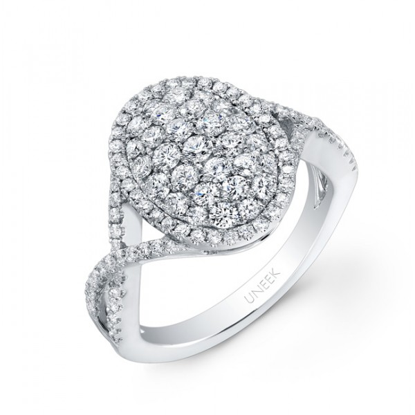 Bouquet Collection 14K White Gold Diamond Ring LVR108