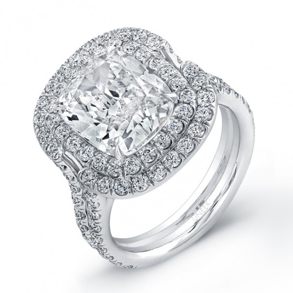 Signature Collection Cushion Diamond Ring LVS649