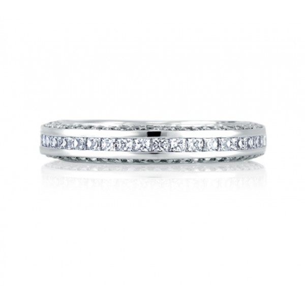 Princess Channel Band With Diamond Encrusted Profile