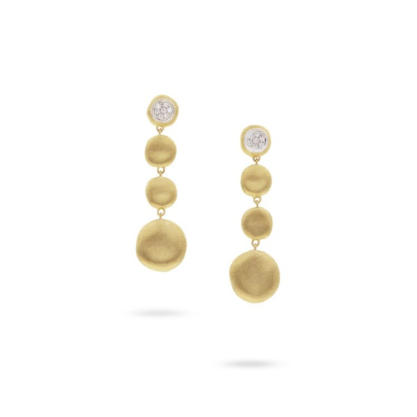 Jaipur 18K Yellow Gold and Diamond Drop Earrings