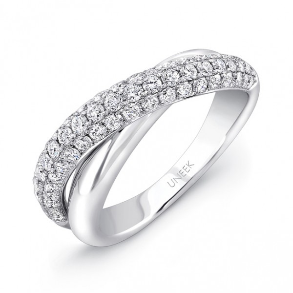 Uneek Diamond Ring in White Gold LVBW327W