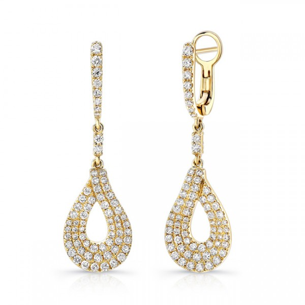 Uneek Dangle Diamond Earrings LVEW694Y