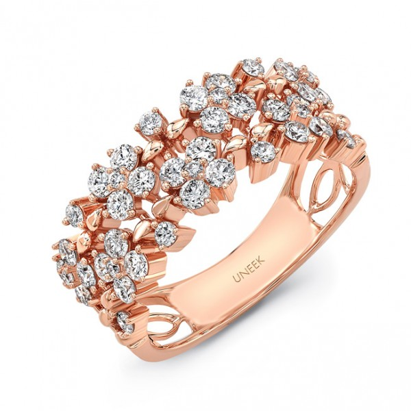 "Uneek ""Duchesse"" Open Lace Diamond Band, in 18K Rose Gold"