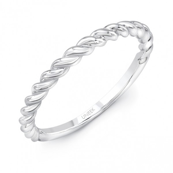 """Uneek """"Doheny"""" Stackable Band in 14K White Gold"""