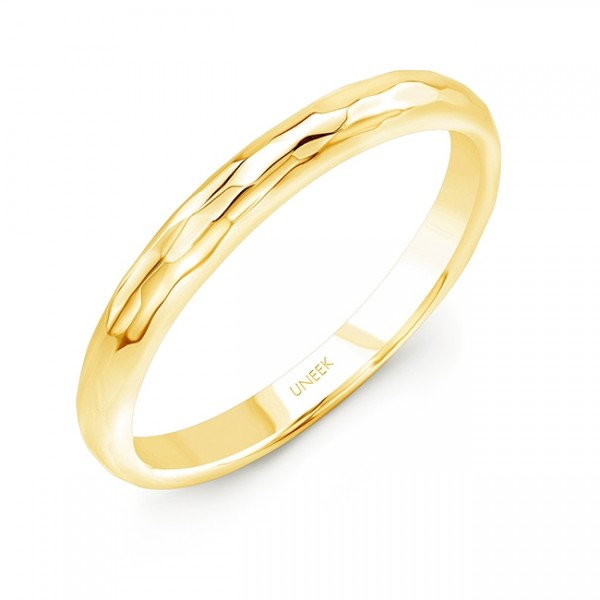 "Uneek ""Martel"" Stackable Band in 14K Yellow Gold"