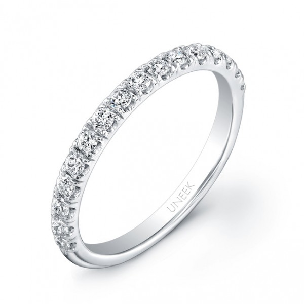 Uneek 16-Diamond U-Pave Wedding Band in 14K White Gold
